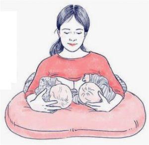 وضعية ارضاع التوأم